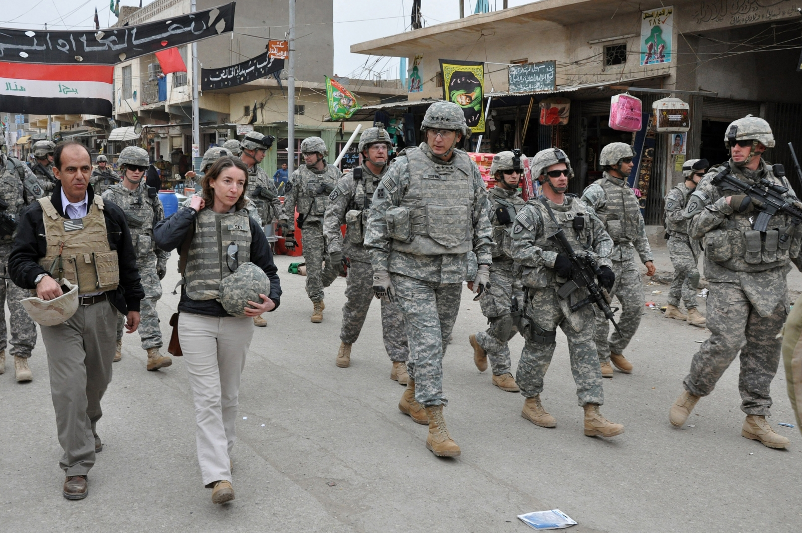 Emma Sky and Ray Odierno in Baghdad