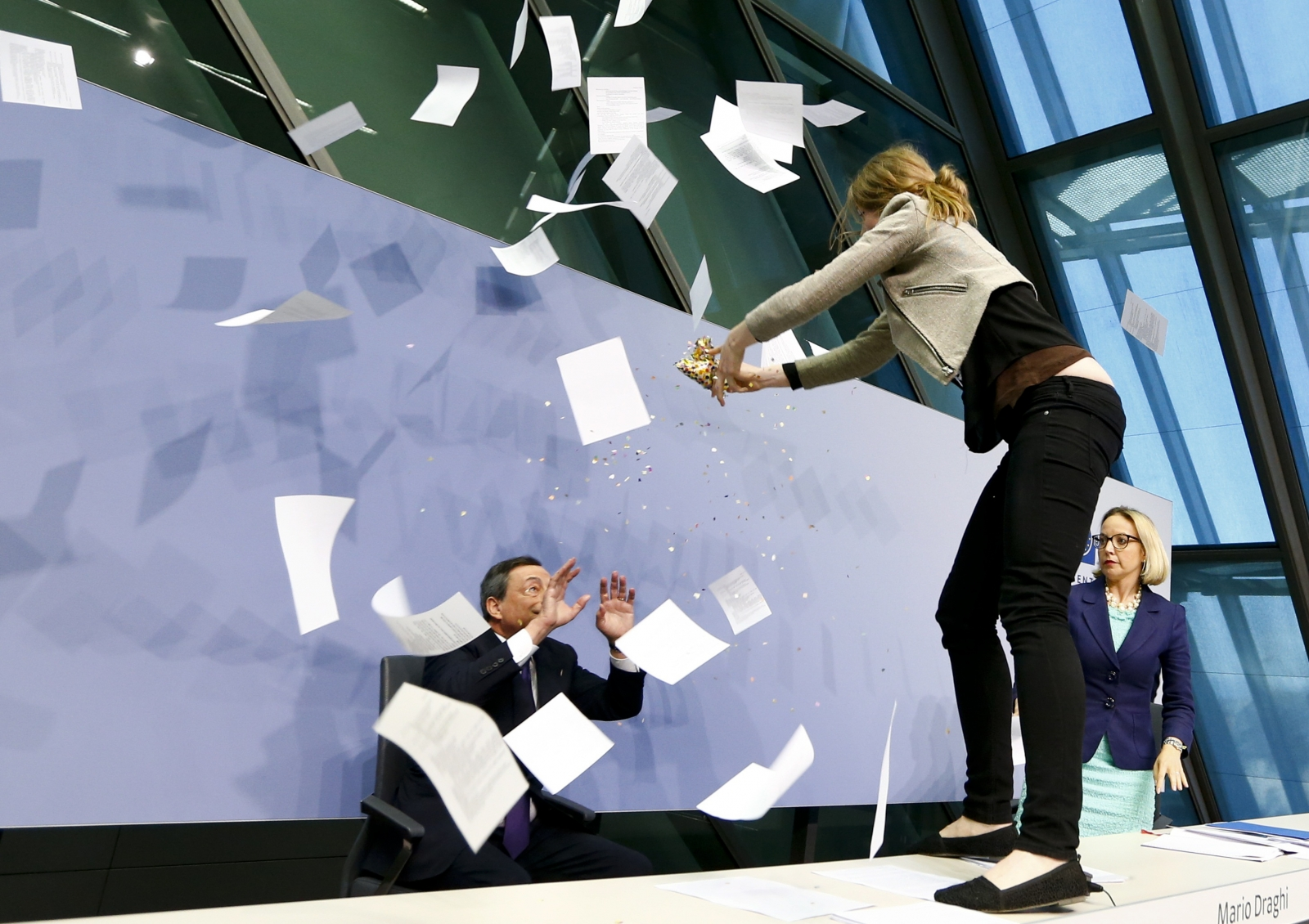 Femen protest Mario Draghi ECB