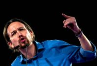 Spain\'s Pablo Iglesias presented King