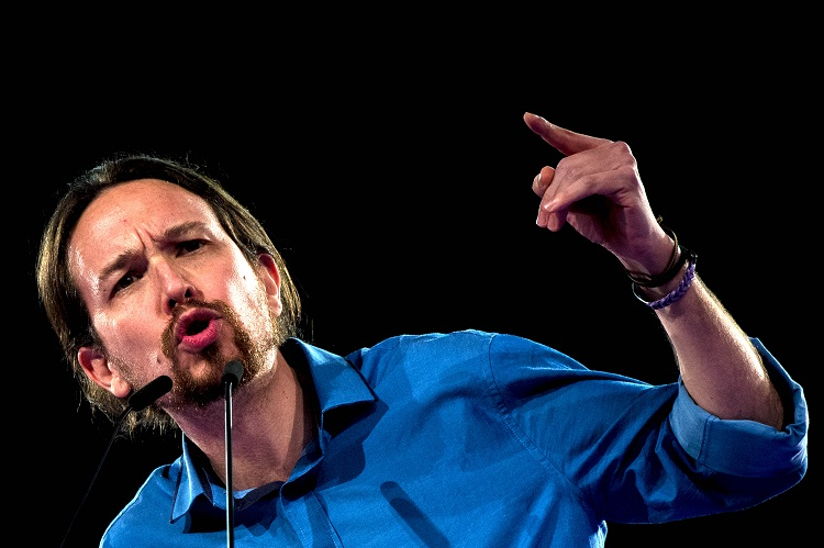 Spain's Pablo Iglesias presented King