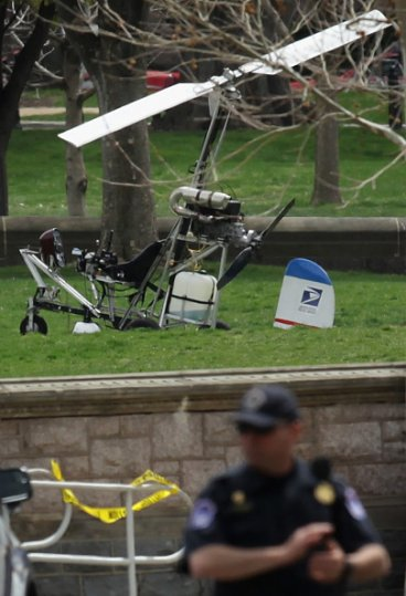 Gyrocopter lands in Capitol Hill