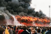 Bradford City\'s ground goes up in flames