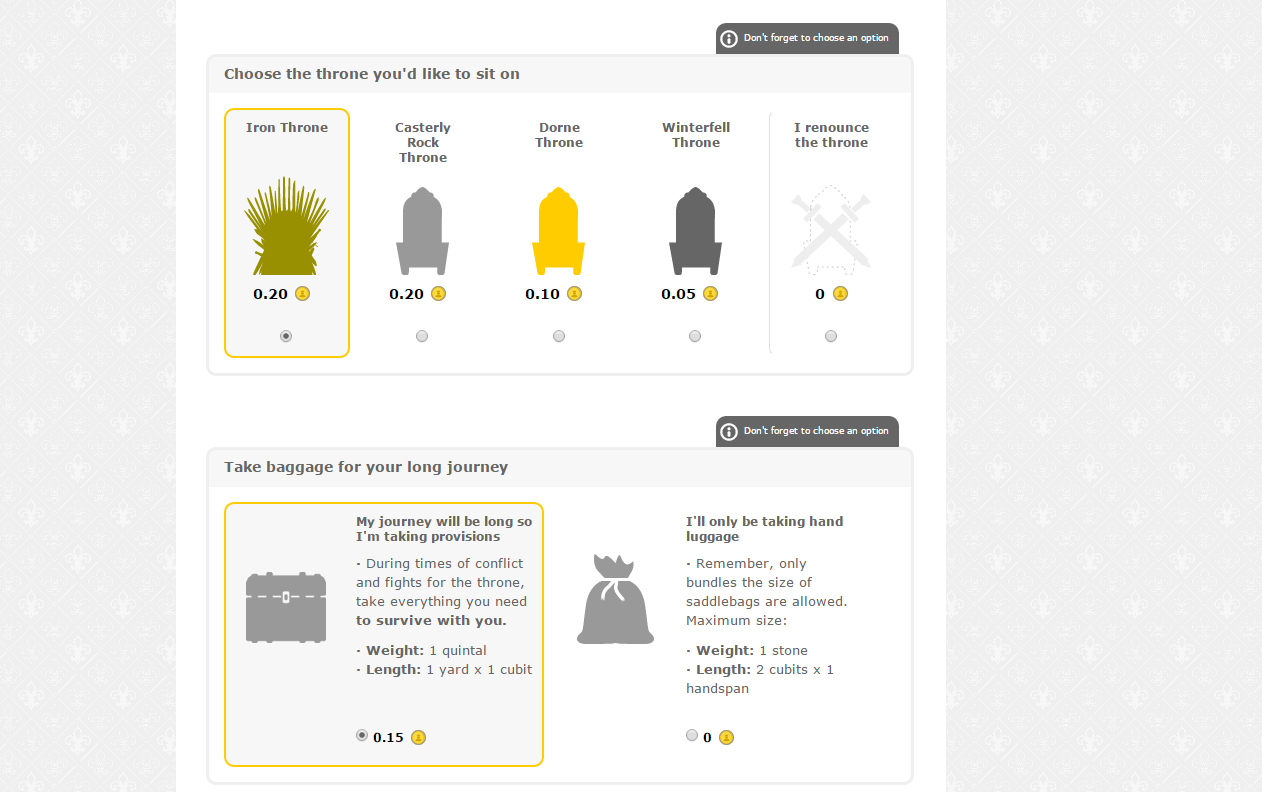 Game of Thrones Vueling