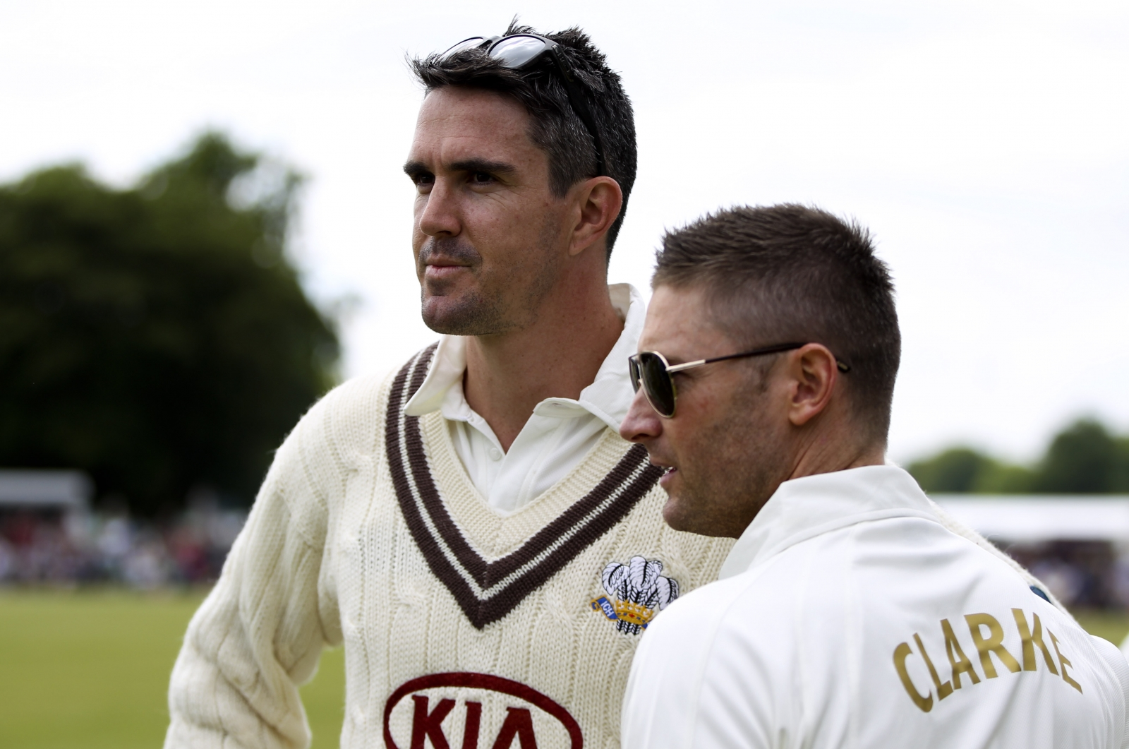Kevin Pietersen and Michael Clarke