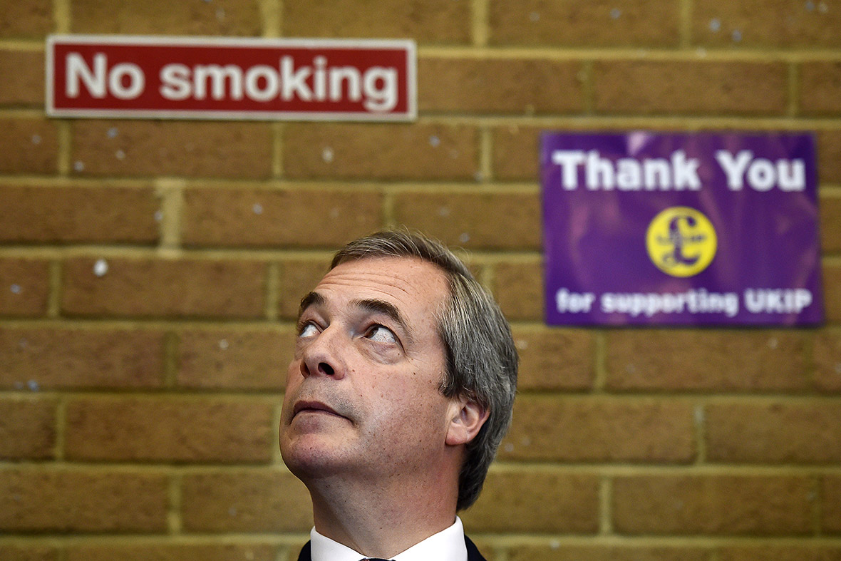 nigel farage no smoking