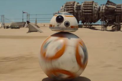 BB8 robot in Star Wars Episode VII