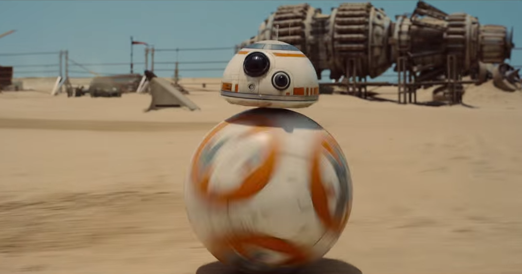 BB8 robot in Star Wars Episode VII
