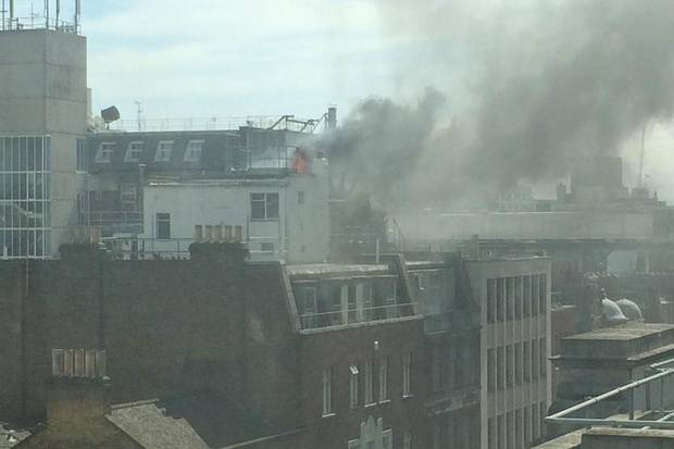 Great Portland Street fire