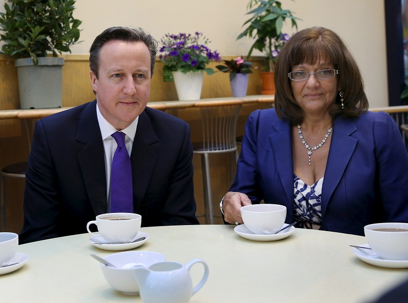 Ros Altmann and David Cameron