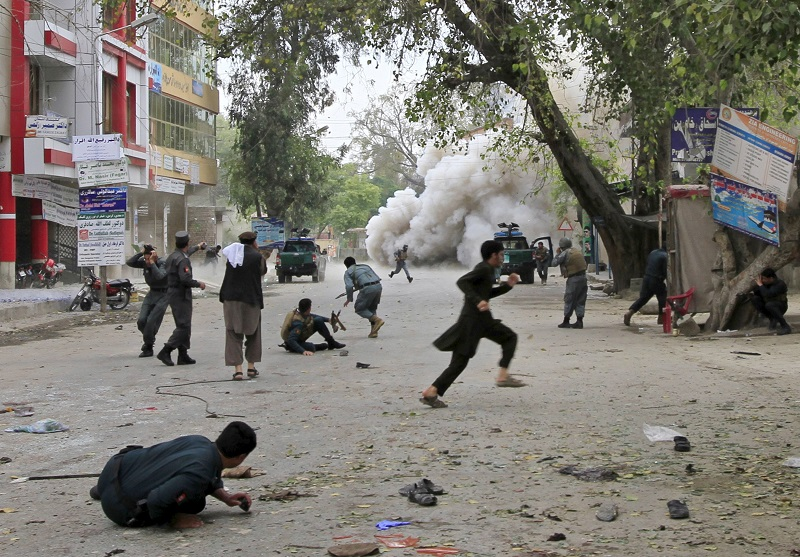 Jalalabad bombing 18 April street explosion