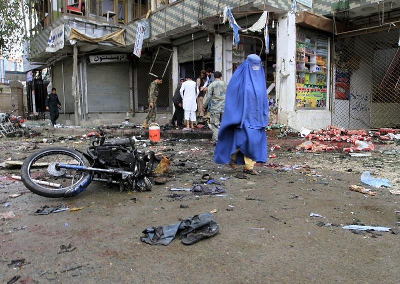 Jalalabad bombing 18 April street woman
