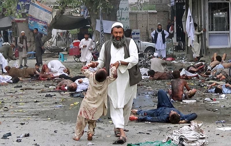 Jalalabad bombing 18 April child victim VIOLENT