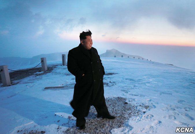 Kim Jong-Un Mount Paektu 1
