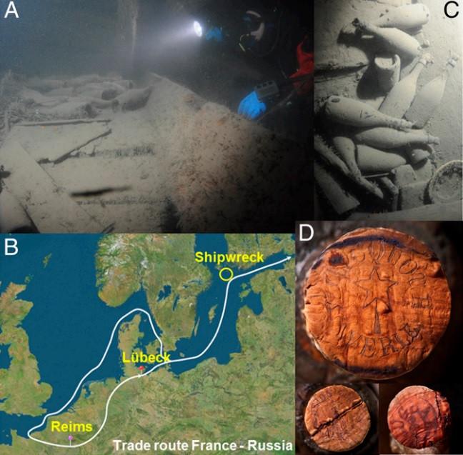 champagne baltic sea shipwreck