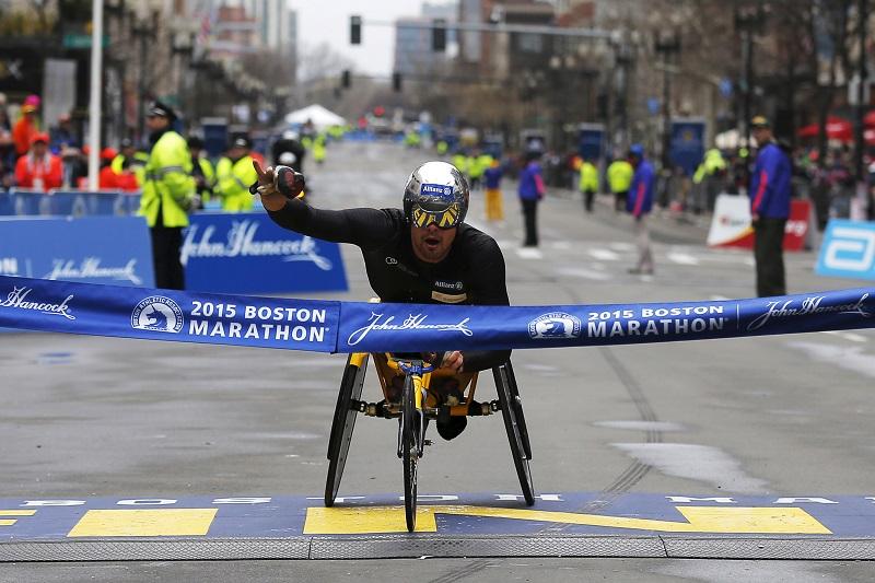 Boston Marathon wheelchair race 2015