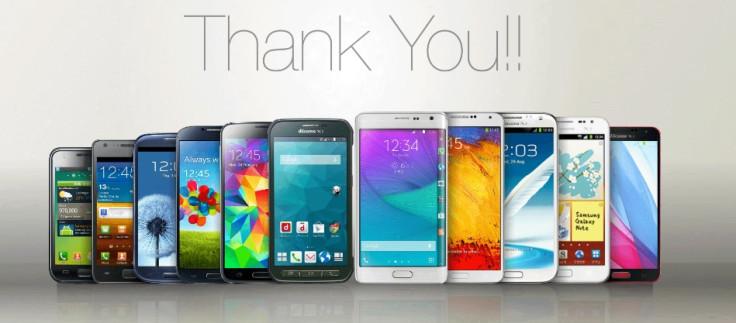 Samsung phones Japan branding