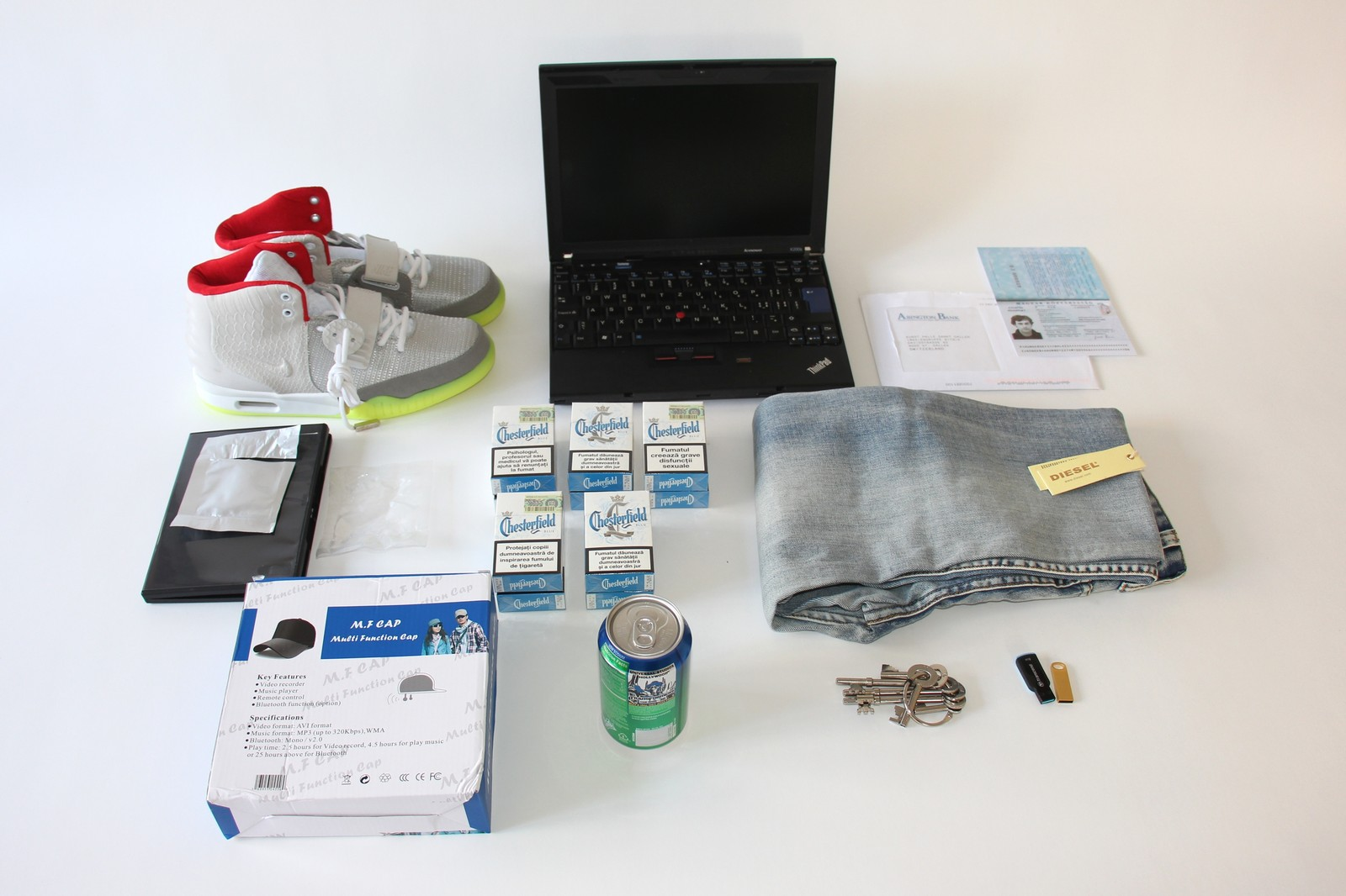 Illegal goods bought by a Darknet bot
