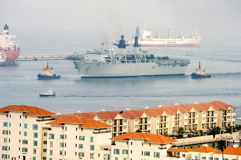 The Royal Navy flagship HMS Bulwark