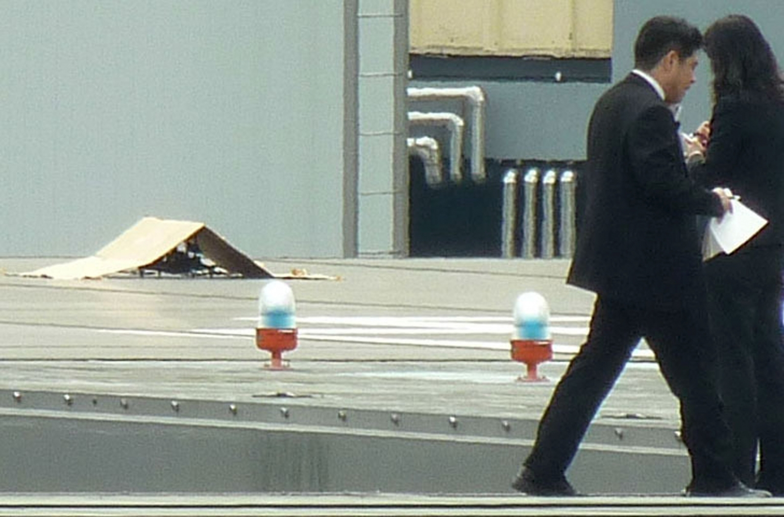 Quadcopter drone lands on Japanese PM office