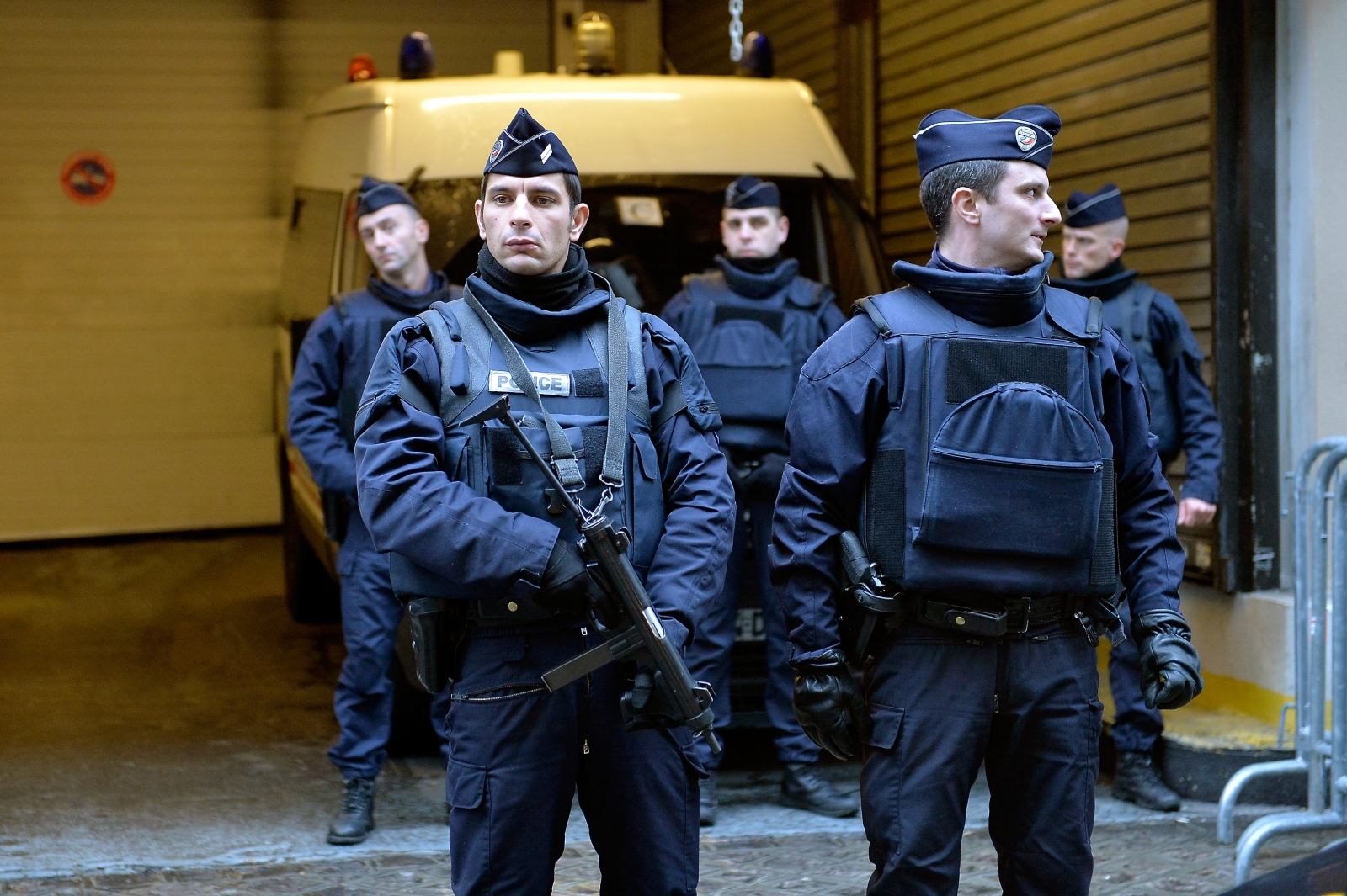 Anti-terror police in Paris