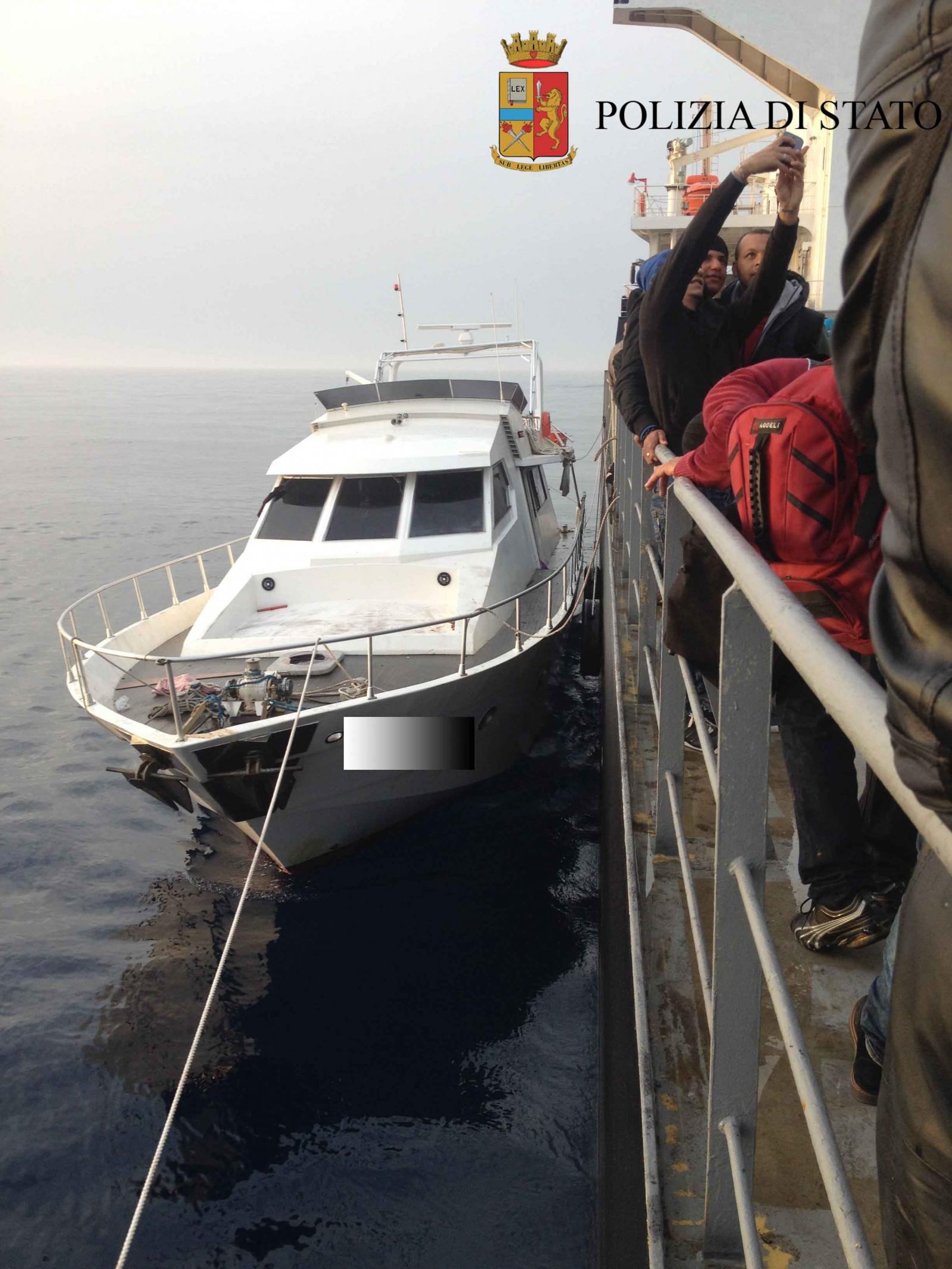 Mediterranean Migrants Luxury boat