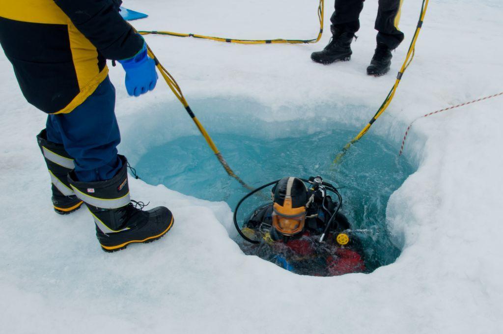 Antarctic ocean seafloor