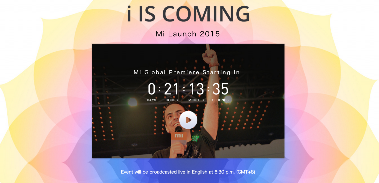 Xiaomi Global Launch livestream