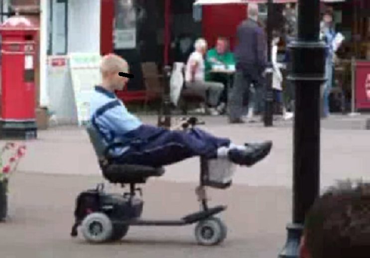 Youth joyrides mobility scooter in Carlisle