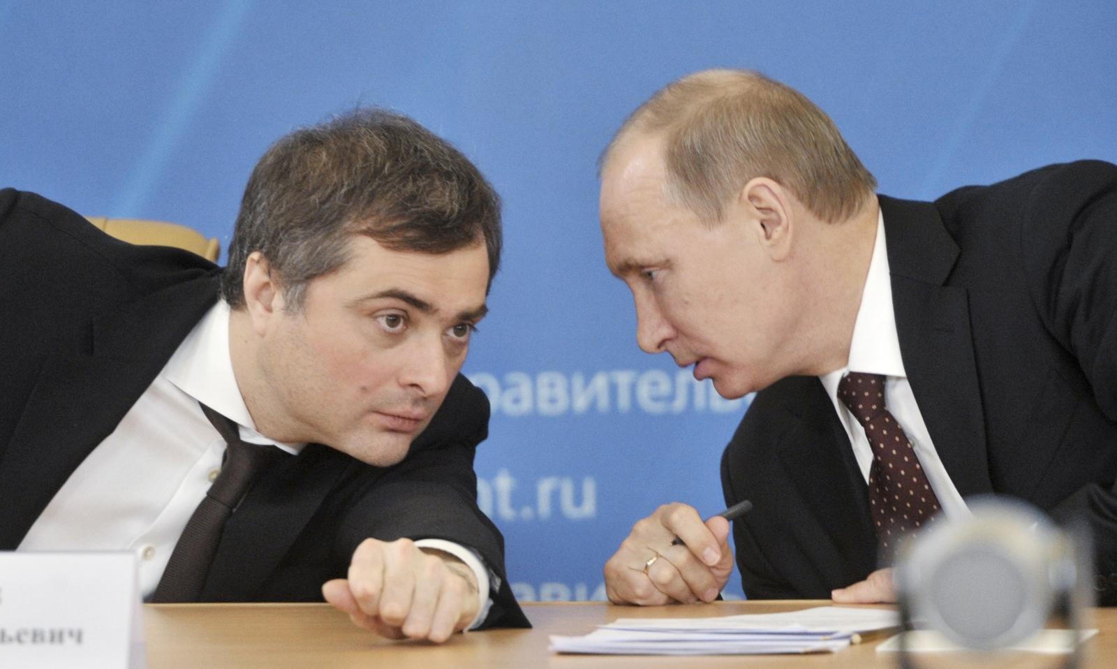 Vyasheslav Surkov and Vladimir Putin