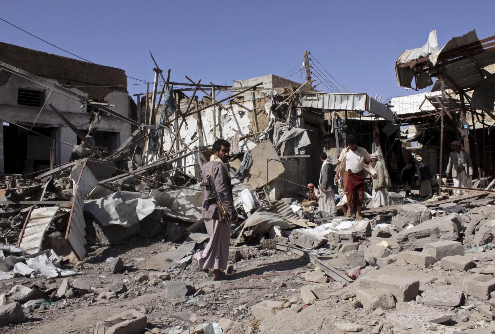 Yemen Saudi airstrikes Houthi