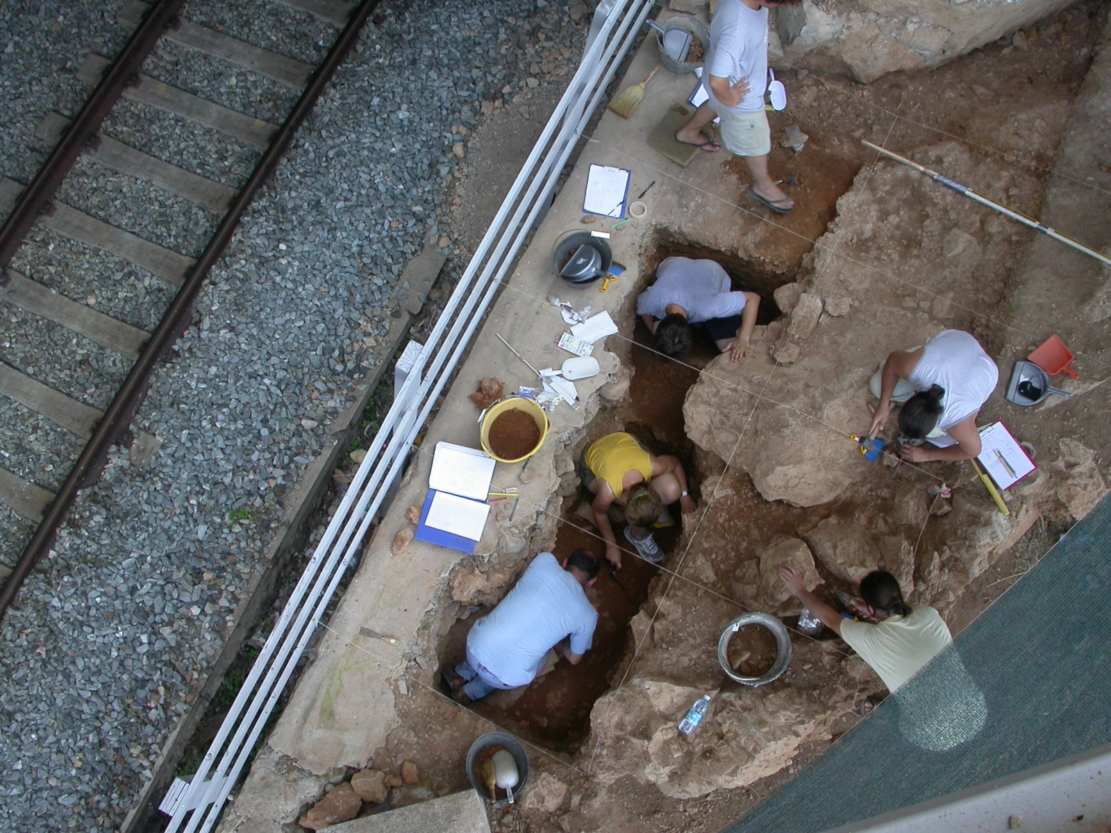 Protoaurignacian excavation site