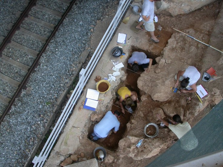 Protoaurignacian excavation site