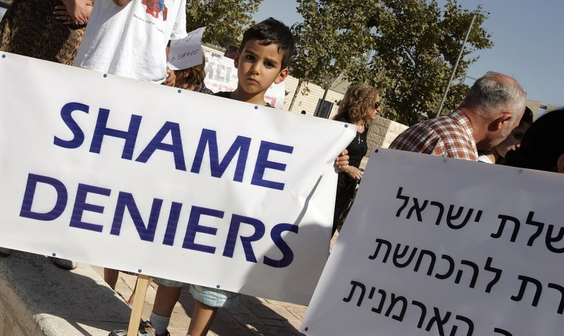 Armenians protest in Israel