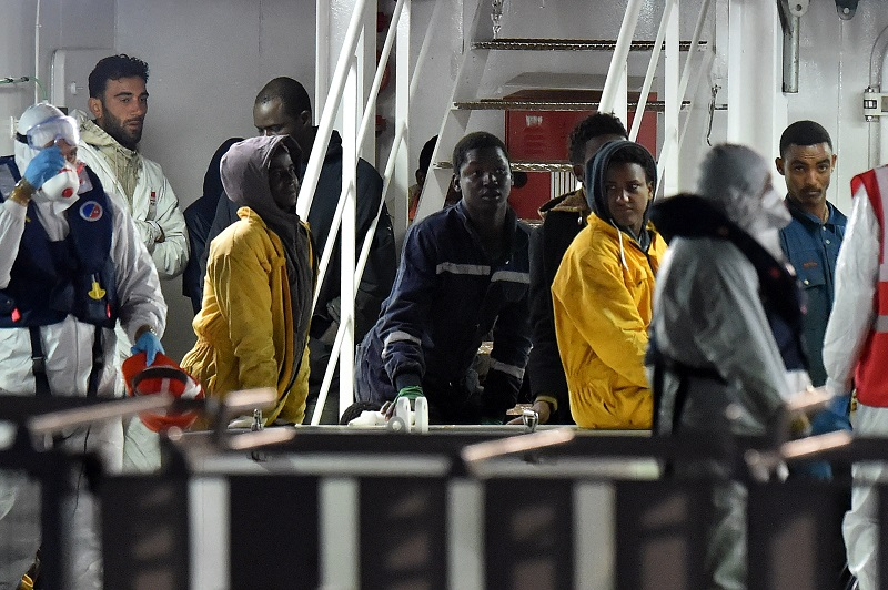 Survivors Of The Mediterranean migrant boat disaster