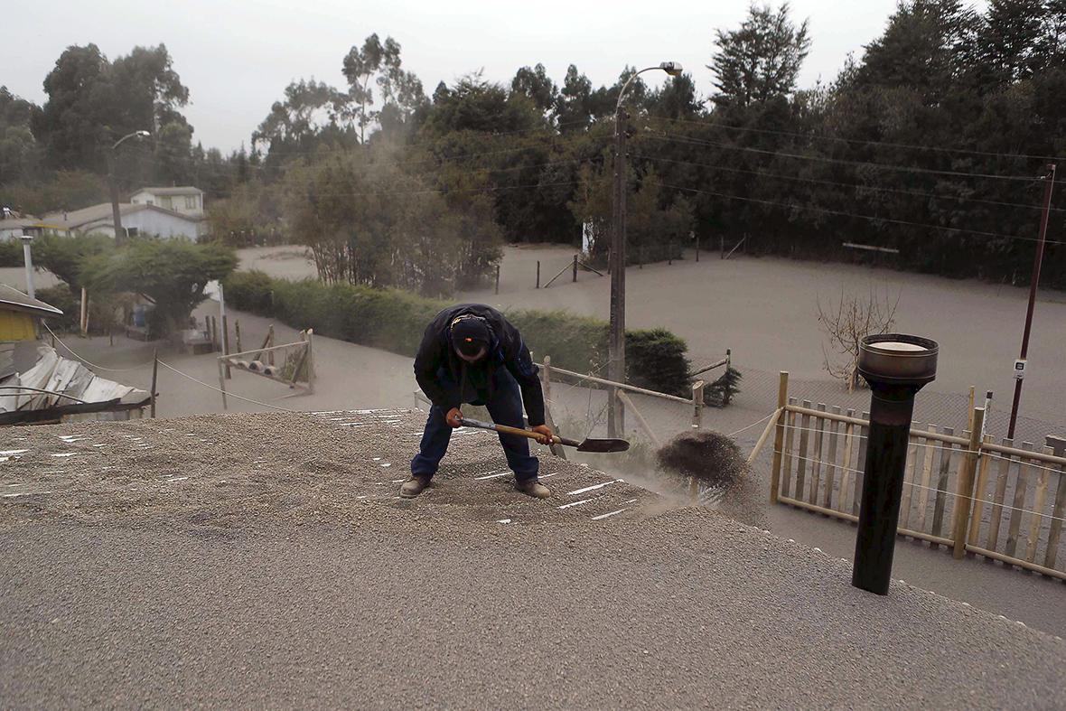 Calbuco volcano Chile ash