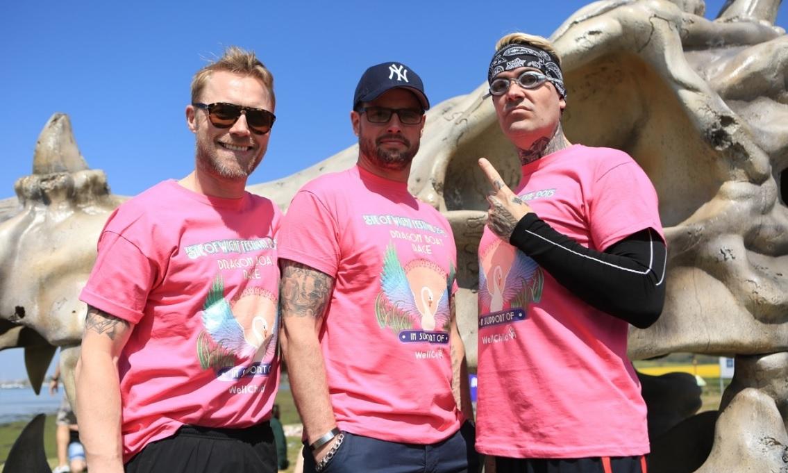 Ronan Keating, Keith Duffy and Shane Lynch