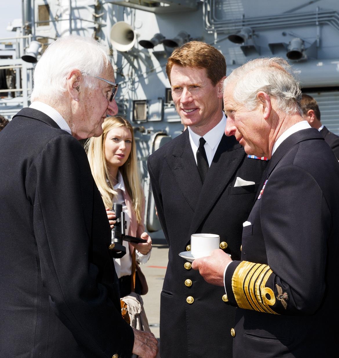 Prince of Wales meets decendants