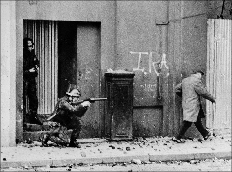 Belfast Northern Ireland British Army patrol
