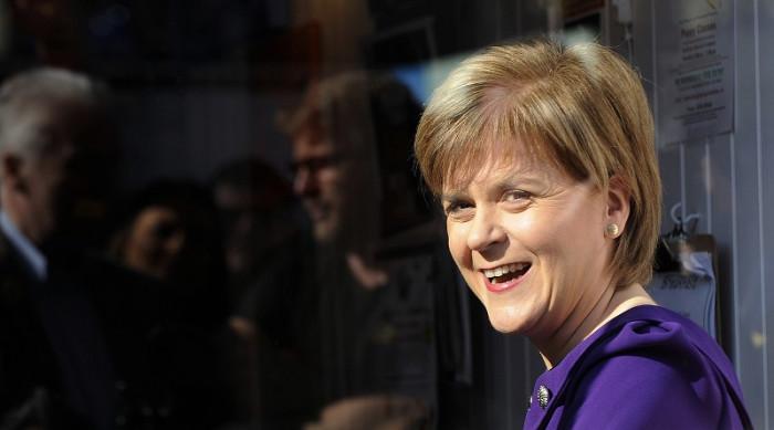Nicola Sturgeon SNP campaigning 22 April