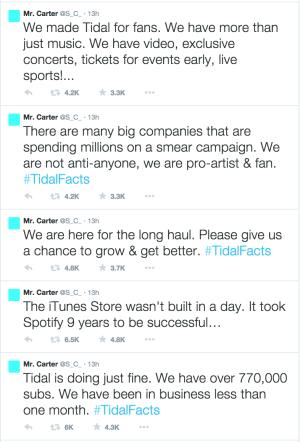 Jay-Z Tidal Twitter Rant