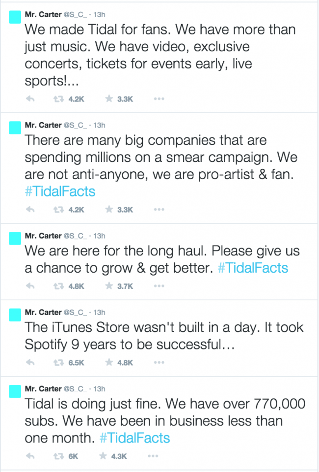 Jay-Z: Tidal streaming service is \'doing fine\' and has 770,000