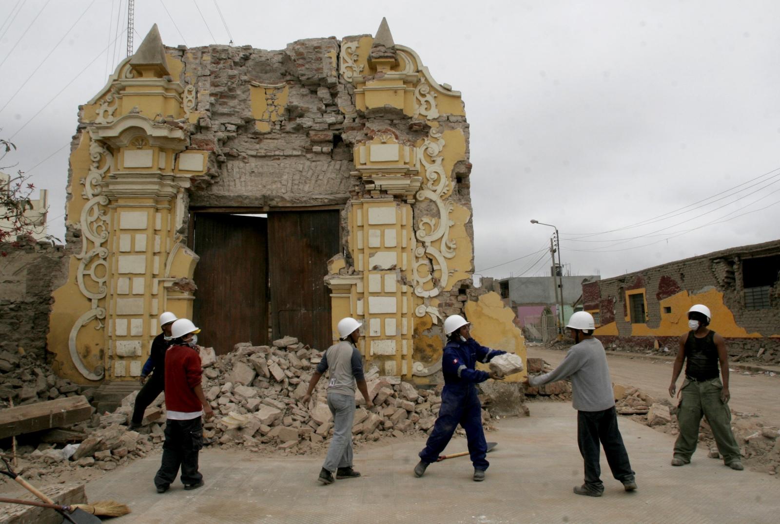 Peru earthquake 2007