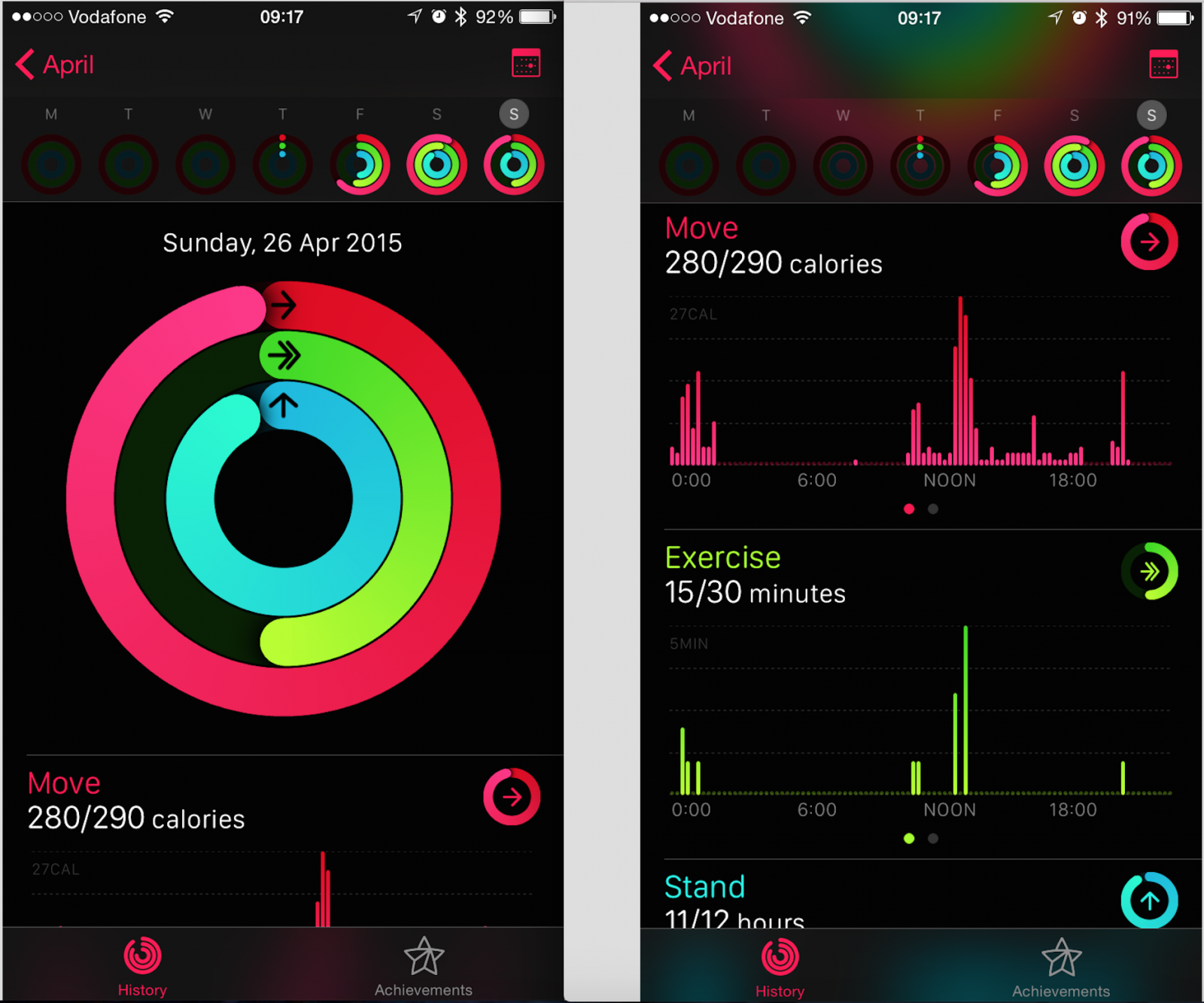 Apple Watch Activity app for iPhone