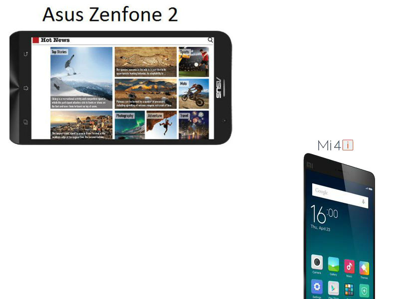 Asus Zenfone 2(ZE551ML) vs Xiaomi Mi 4i