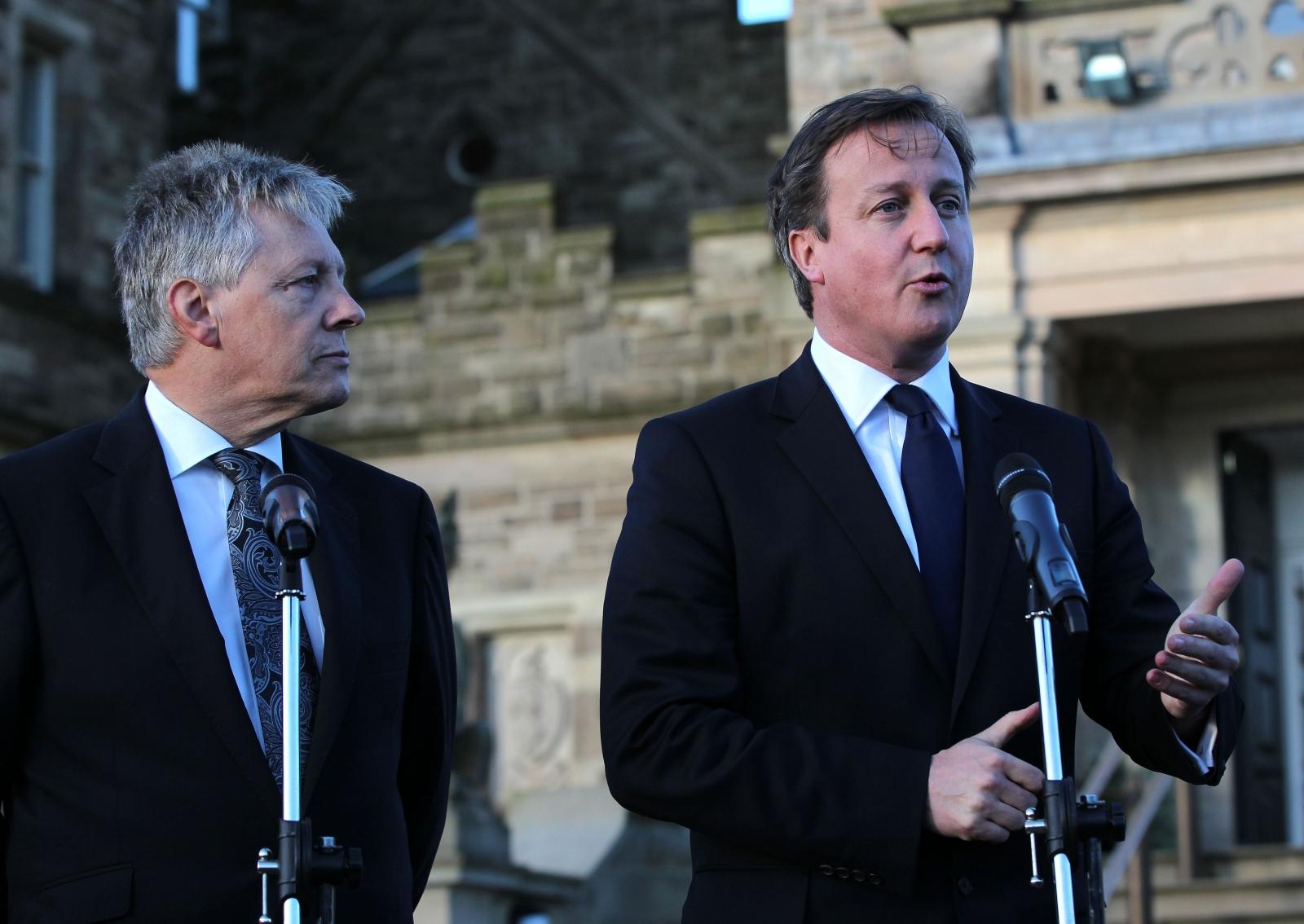Peter Robinson David Cameron