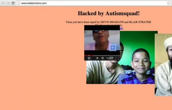 Tesla site hacked