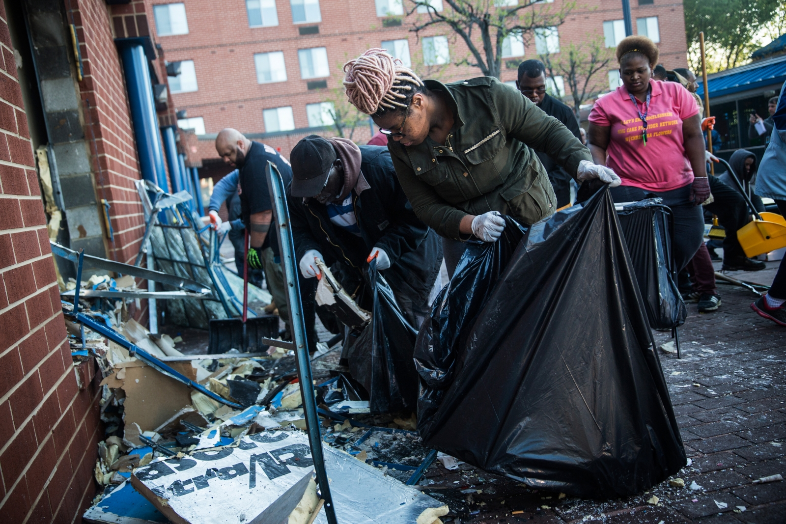 Baltimore residents clean up