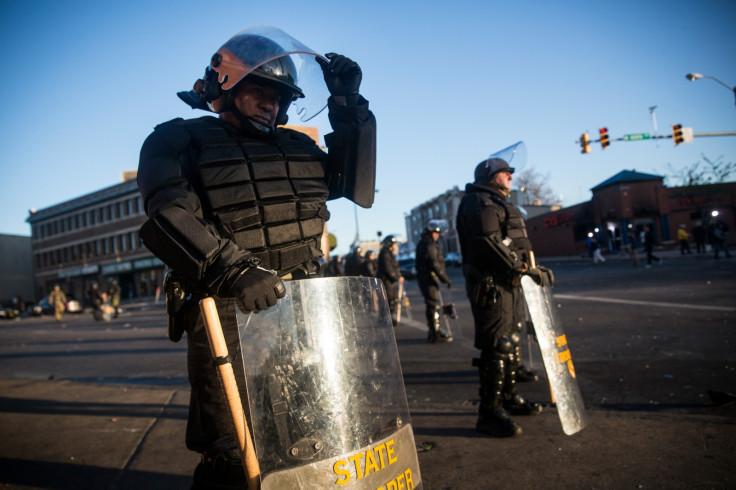 Riot police Baltimore