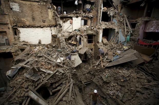 Nepal earthquake devastation