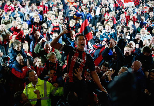 Tommy Elphick of Bournemouth celebrates